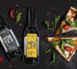 Пицца и пиво – вкусная парочка